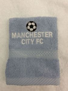 MANCHESTER CITY PERSONALISED FACE CLOTH